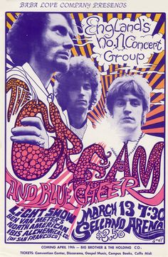Cream, Blue Cheer March 13, 1968, Selland Arena
