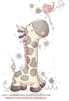 61 Ideas For Drawing Animals Giraffe Wall Art Tatty Teddy, Cute Images, Cute Pictures, Art Mignon, Blue Nose Friends, Tall Friends, Cute Clipart, Clipart Baby, Baby Art