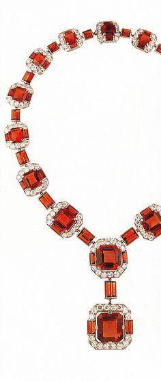 Diamond & Cognac Citrine Cartier necklace