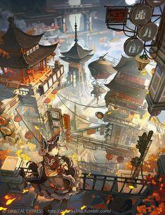 Anime art to share: kidznet the safe moderated social network for kids. Fantasy City, Fantasy Places, Fantasy World, Fantasy Art Landscapes, Fantasy Landscape, Landscape Art, Rpg Map, Fantasy Concept Art, Scenery Wallpaper