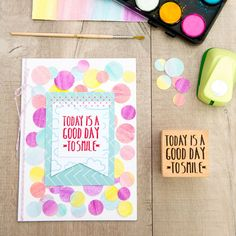 Sello - Today is a good day to smile - Sellos Mr Wonderful - Sellos - Scrapbook