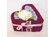 Srdce ručníkové, Kamínky, vínovo-fialové