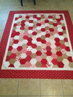 So easy to create with the half hexagon template