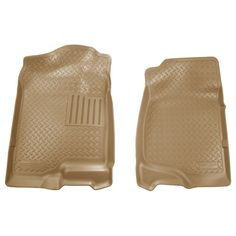 Husky Classic 2007-2013 Cadillac Escalade EXT 2nd Row Bench/Bucket Tan Front Floor Mats/Liners