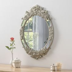 View Barcelona Oval Champagne Mirror product from Soraya Interiors UK, See more products like this and more wall mirror categories Ornate Mirror, Oval Mirror, Decorative Mirrors, Gold Mirrors, Framed Mirrors, Hallway Mirror, Mirror Hanging, Home, Champagne