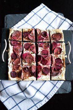 roasted beet & goat cheese tart