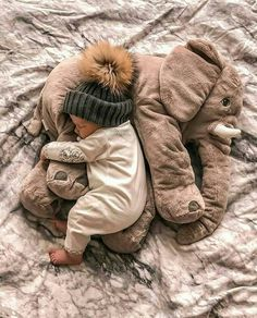 This elephant pillow is made from only the highest quality plush materials. The we . Die we… This elephant pillow is made of only the highest quality … - So Cute Baby, Cute Baby Clothes, Newborn Winter Clothes, Cute Baby Smile, Little Babies, Baby Kids, Cute Children, Mom And Baby, Baby Baby