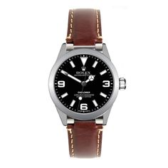 Rolex Brown Leather Strap for Explorer I by Everest