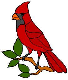 Cardinal Window Cling