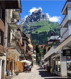 Strolling on a sunny day in Engelberg Switzerland   PC: @miracolei  ten trees…