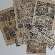 1922 Set of 9 original SEWING Embroidery Lace by ohlalacamille