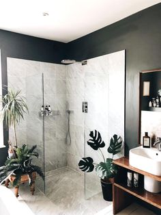 Spent yesterday photographing the whole house ready for it to be signed up to a locations agency. Madame was furious that for the… Tropical Bathroom, House, Home, Floral Bathroom, Shower Room, Bathroom Interior, Small Bathroom, Luxury Bathroom, Beautiful Bathrooms