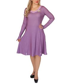 Love this Purple Diana Troi Costume - Women by Her Universe on #zulily! #zulilyfinds