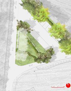 PV136 Espaces publics et Mairie avec école à Vincy-Manœuvre - 77 | th - Architecture - Urbanisme | Philippe Villien