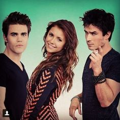 Ian Somerhalder, Nina Dobrev and Paul Wesley