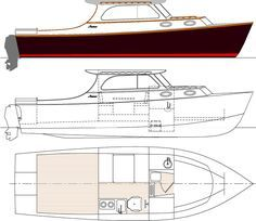 Boat Plans 669136457115403631 - Vashon an outboard lobster style cruiser Source by Make A Boat, Build Your Own Boat, Hinckley Boat, Small Yachts, Free Boat Plans, Wooden Boat Building, Fast Boats, Boat Kits, Wood Boats