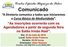 Centro Espírita Riqueza do Saber Convida todos para o seu Curso Básico de Mediunidade -  Volta Redonda – RJ - http://www.agendaespiritabrasil.com.br/2016/05/22/centro-espirita-riqueza-do-saber-convida-todos-para-o-seu-curso-basico-de-mediunidade-volta-redonda-rj/
