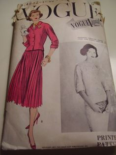Vintage 1957 Vogue 4832 Special Design Suit with by TheLastPixie, $30.00