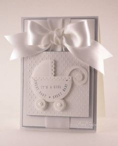 JustRite Elegant Baby Girl by Becca Stamps - Cards and Paper Crafts at Splitcoaststampers