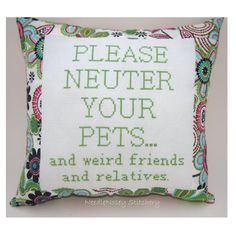 Awesome! Funny Cross Stitch Pillow Cross Stitch Quote by NeedleNosey, $20.00