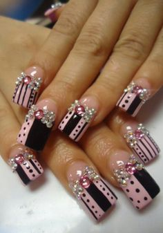See more ideas about Nude nails, Make up looks and Nail polish. Long Nail Designs, Beautiful Nail Designs, Cute Nail Designs, Crazy Nails, Fancy Nails, Bling Nails, Fabulous Nails, Gorgeous Nails, Pretty Nails