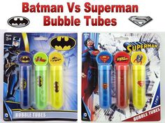 3X Batman Superman Bubble Tubes & Wands Loot Bag Christmas Stockings Filler Gift   3X #Batman #Superman #BubbleTubes & Wands #LootBag #Christmas #StockingsFiller Gift #BUBBLES #KIDSPARTYFUN
