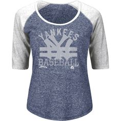 New York Yankees Majestic Women's Cooperstown Collection All In for the Win T-Shirt - Navy - $25.59