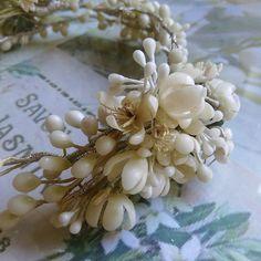 Wax Orange Blossom Vintage Style Victorian Wedding Headdress/Crown