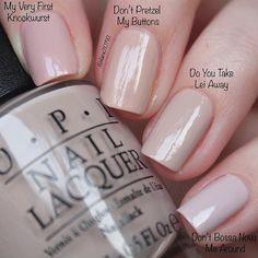 Similar light nude OPI colour comparisons | OPI