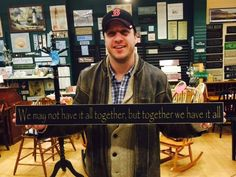 Love is in the air at CMP. As Valentine's Day approached, Jason remembered a sign he had seen in our store - the perfect saying and gift for his wife Stacey! Luckily we were able to locate the exact saying and color - thus the smile on Jason's face! Happy Valentine's Day Stacey!
