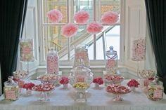 Gorgeous pink vintage sweetie table