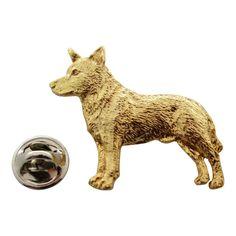Australian Cattle Dog Pin ~ 24K Gold ~ Lapel Pin
