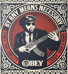 ... Shepard Fairey Obey Giant By any means necessary set screen print  artwork serigraphie oeuvre art 2007 ...