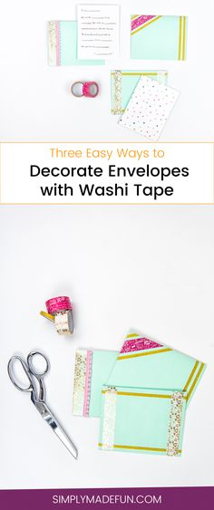 58 Ideas Sewing Christmas Yards Washi Tape For 2019 How To Make An Envelope, Scrabble, Washi Tape Crafts, Paper Crafts, Beginner Felting, Sewing Room Design, Sewing Quotes, Arts And Crafts Storage, Housewarming Gifts