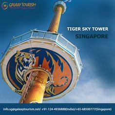 Tiger Sky Tower is the tallest observatory tower in Asia and boasts 360 degree views of Sentosa in Singapore. Book and get best discounted rate.. http://goo.gl/7OjbzI