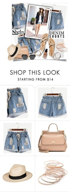 """""""shein"""" by perfex ❤ liked on Polyvore featuring Dolce&Gabbana, Roxy, Red Camel and e.l.f."""