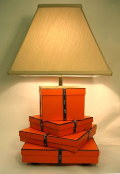 Hermes Chic Hermes Lamp Orange Hermes Gift Boxes by FirstandFig, $375.00