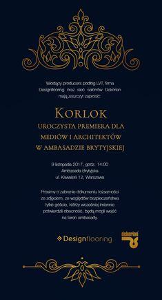 Eleganckie zaproszenie w stylu wiktoriańskim