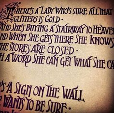 Stairway to heaven lyrics ♥