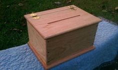 Paulownia and red oak offering box by Trinity Custom Woodworking
