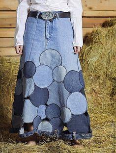Юбки ручной работы.Юбка Круги на полях. Handmade.