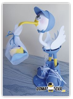 Baby Shower Crafts, Baby Boy Shower, Diy Crafts For Gifts, Foam Crafts, Fondant Animals, Baby Shawer, Baby Shower Balloons, Baby Party, Diy Projects To Try