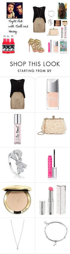 """""""Night Club with Niall and Harry"""" by sarastyles-362 ❤ liked on Polyvore featuring Christian Louboutin, Dorothy Perkins, Christian Dior, GUESS by Marciano, Astley Clarke, Victoria's Secret, Guerlain, Topshop, Ileana Makri and ChloBo"""