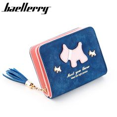 New 2017 Women Wallets and Purses Dull Polish+Cute Horse Design Female Card Holder Wallets Women Coin Bag With Tassel