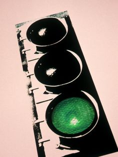 size: Photographic Print: Green Traffic Light Poster by Carol & Mike Werner : Subjects Green Traffic Light, Light Tattoo, Stop Light, Light Painting, Light Art, Painted Signs, Light Photography, Beautiful Paintings, Pattern Art