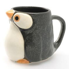 Penguin Mug 9oz Black Set Of 2