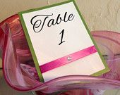 Wedding Table Number Signs
