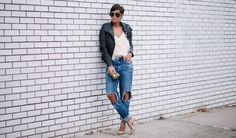 8 Cool New Ways to Wear Boyfriend Jeans, According to Pinterest via @PureWow