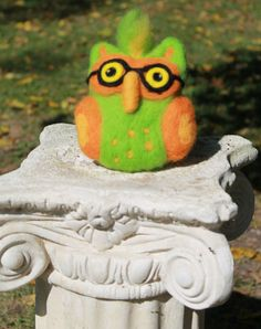 Needle Felted Owl Soft Sculpture Owl by TheRovingArtist on Etsy, $30.00