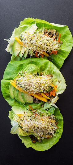 Vegan lentil lettuce wraps by Green Healthy Cooking